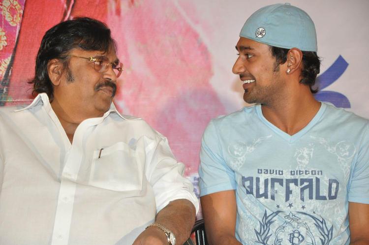 Dasari And Varun Conversation Photo Clicked At PNK Movie Platinum Disc Function