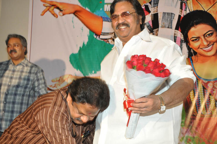 Sambasiva Take Blessings From Dasari Photo Clicked At PNK Movie Platinum Disc Function