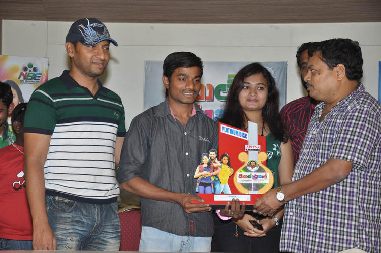 BA Raju And Mythili At Double Trouble Movie Platinum Disc Function