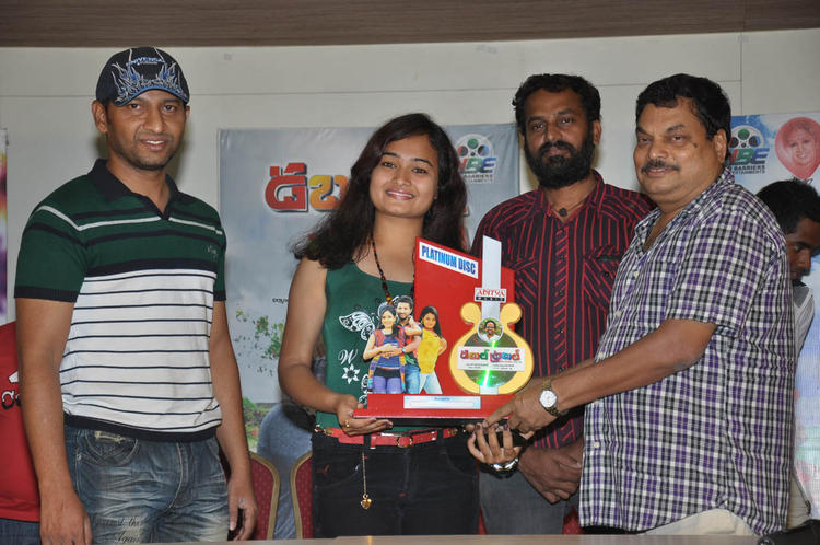 BA Raju And Mythili Smiling Pose At Double Trouble Movie Platinum Disc Function