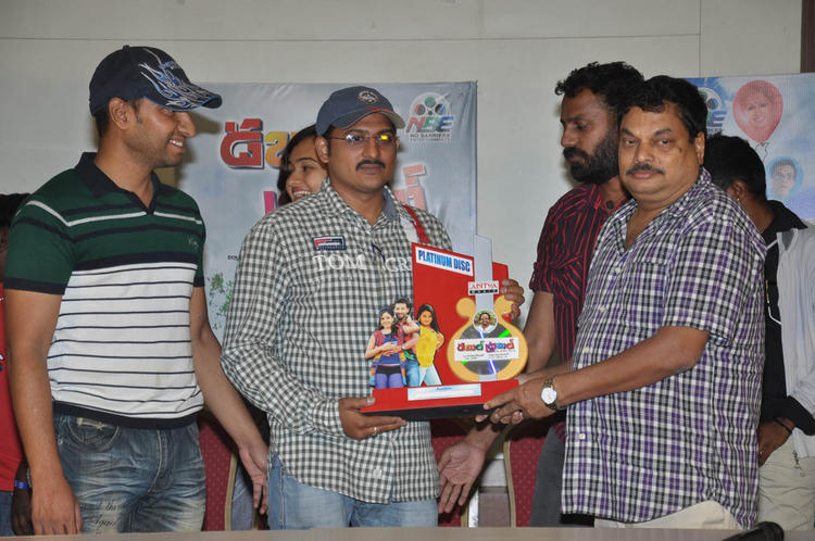BA Raju During The Double Trouble Movie Platinum Disc Function