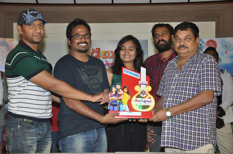 Mythili And BA Raju Nice Look At Double Trouble Movie Platinum Disc Function