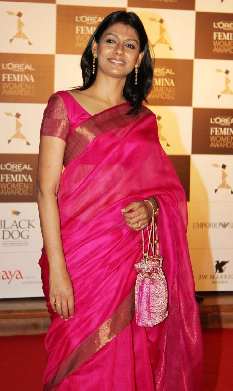 Nandita Das In Saree Dazzling Look At Loreal Femina Women Awards 2013