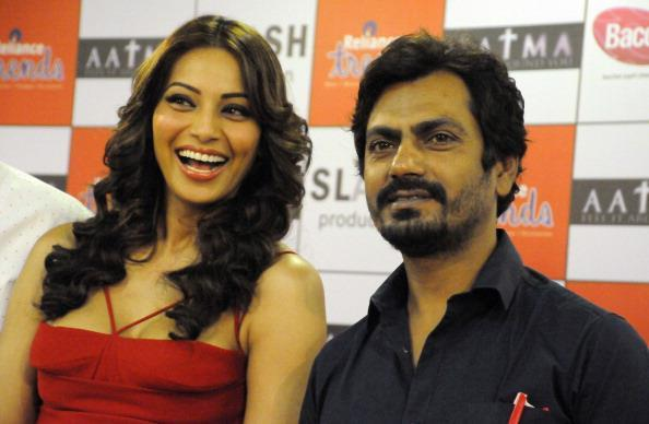 Bipasha Basu And Nawazuddin Siddiqui During The Promotion Of Aatma At Ambience Mall