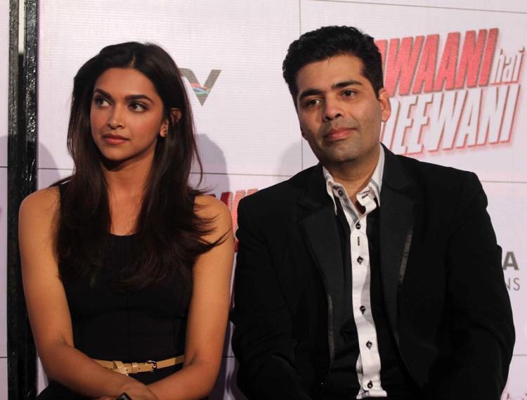 Deepika And Karan Spotted At Trailer Launch Of Yeh Jawaani Hai Deewani