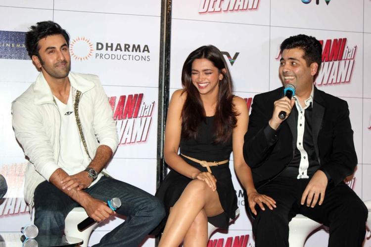 Ranbir,Deepika And Karan Laughing Photo Clicked At Trailer Launch Of Yeh Jawaani Hai Deewani