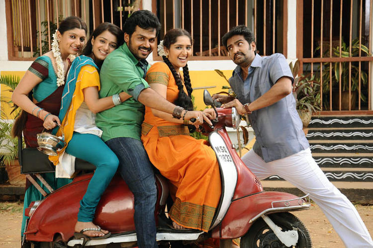 Karthi On Scooter Photo Still From Telugu Movie Bad Boy