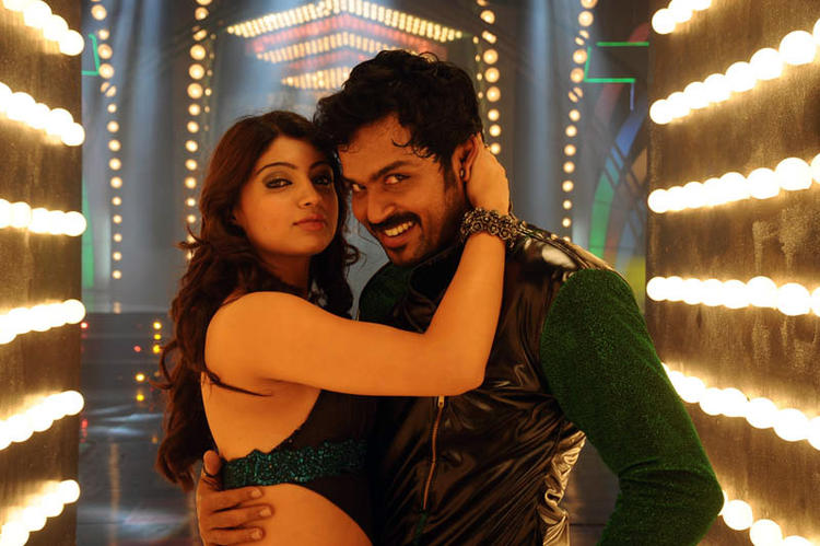 Karthi Sexy Hug Pose Photo Still From Telugu Movie Bad Boy