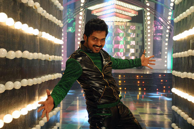 Karthi Smiling Dancing Pose Photo Still From Telugu Movie Bad Boy