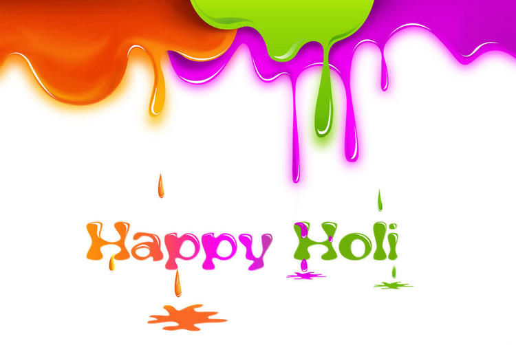Happy Holi Greeting HD Photo Wallpaper