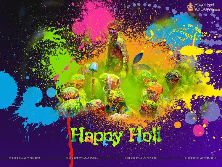 Latest Celebrating Holi Photo Wallpaper