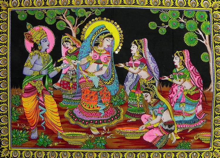 Radha Krishna Exclusive Holi Photo Wallpaper