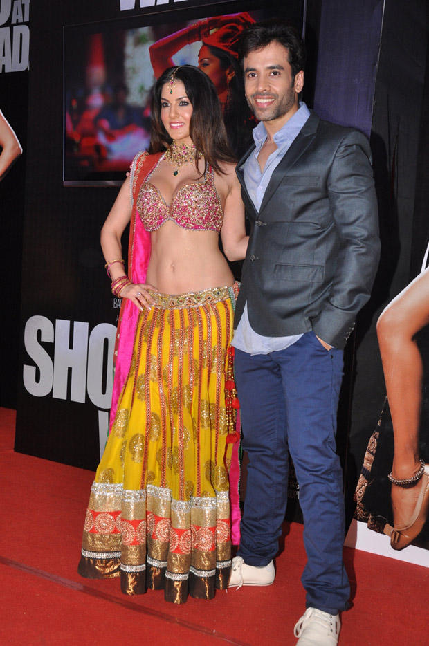 Sunny And Tusshar Posed In Red Carpet At Shootout At Wadala Promotion Event