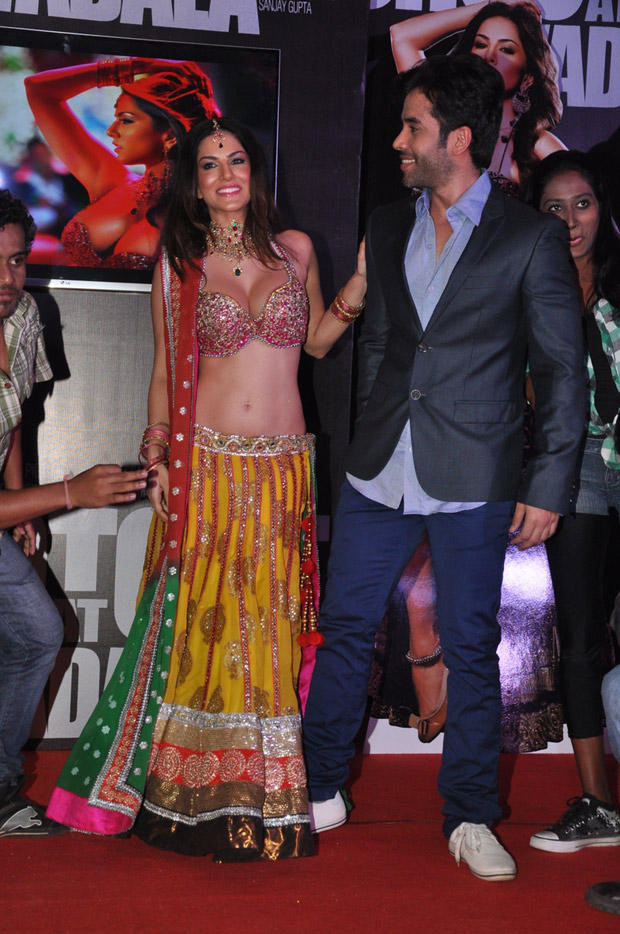 Sunny Leone And Tusshar Kapoor Cool At Shootout At Wadala Promotion Event
