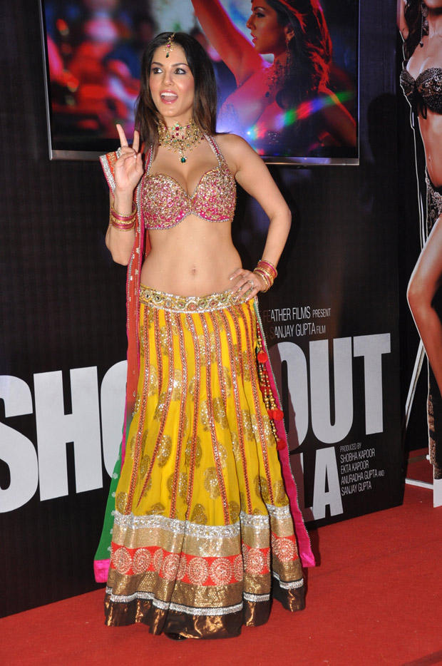 Sunny Leone In Red Carpet At Shootout At Wadala Promotion Event