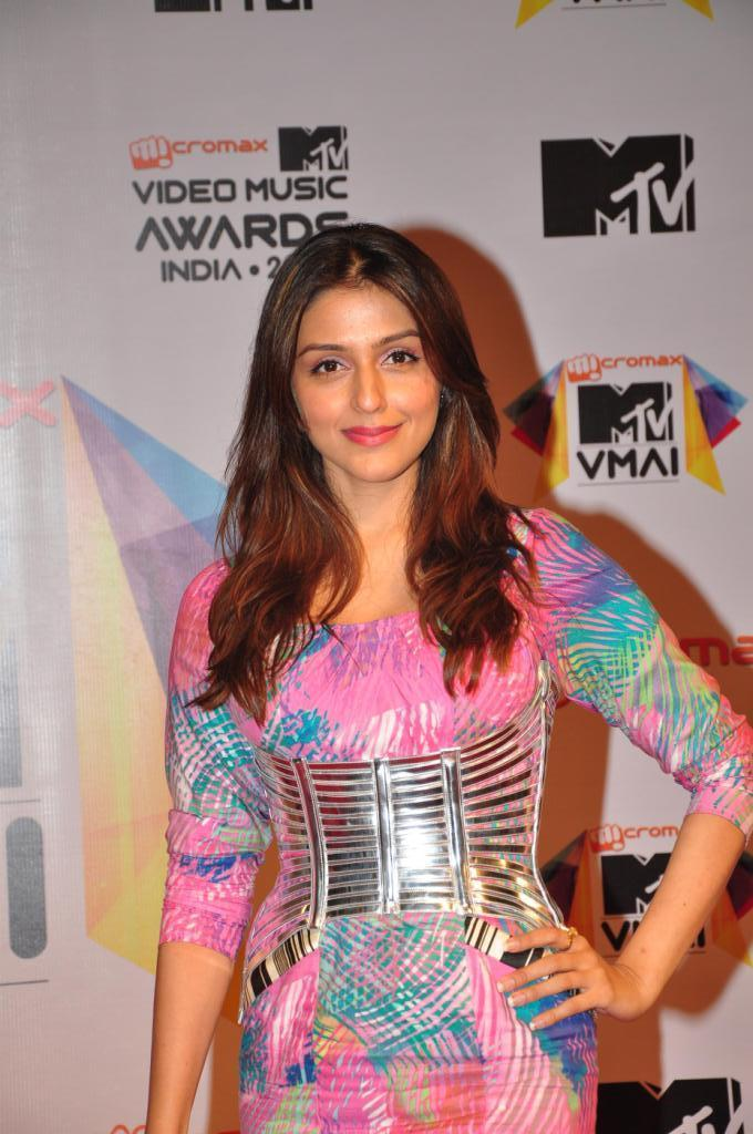 Aarti Chhabria Stylish Pose At MTV Video Music Awards 2013