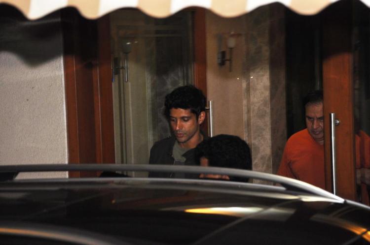 Farhan Akhtar At Sanjay Dutt Residence