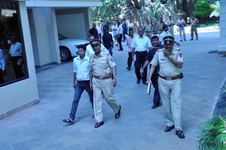 Police Officers Are Spotted At Sanjay Dutt Residence