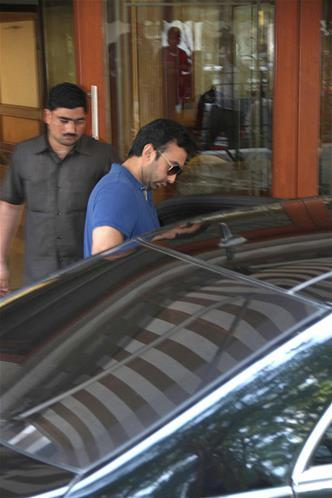 Raj Kundra At Sanjay Dutt Residence For Supporting To This Actor