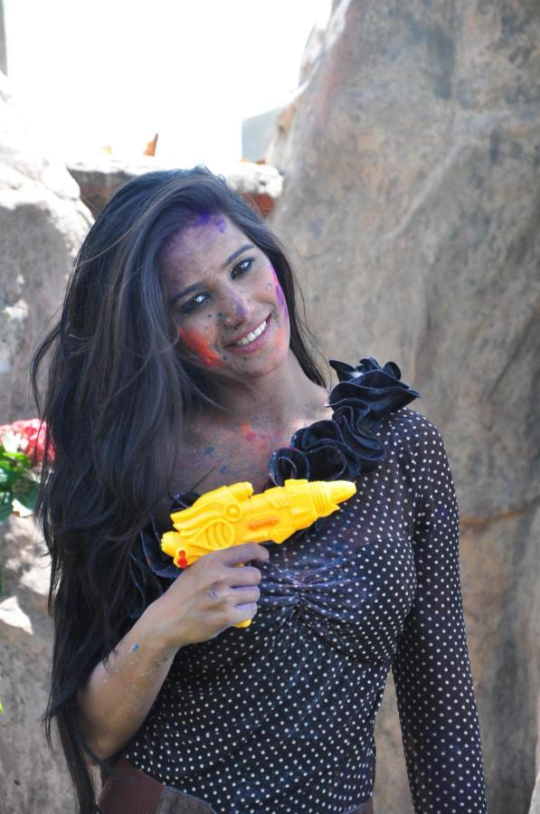 Poonam Sizzling Look Photo Still During Promotion Of Water Less Holi Festival