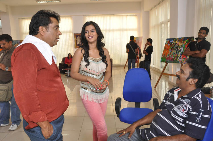 Ashish,Sharmila And Krishna Smiling Photo Clicked At Kevvu Keka Movie Press Meet