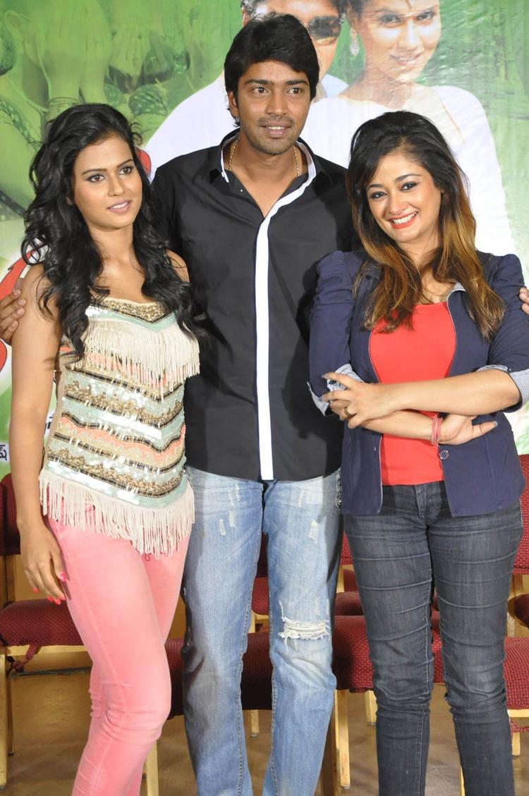 Sharmila,Allari And Kiran Pose For Camera At Kevvu Keka Movie Press Meet