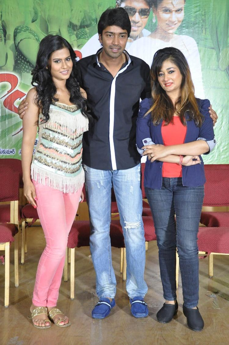 Sharmila,Allari And Kiran Spotted At Kevvu Keka Movie Press Meet