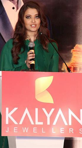 Aishwarya Addressed The Audience At Kalyan Jewellers Press Conference