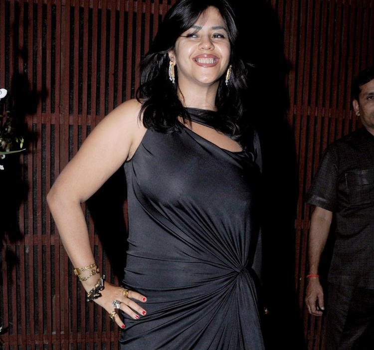 Ekta Looked Sexy In A Black Ensemble At Kangna Ranauts Birthday Bash