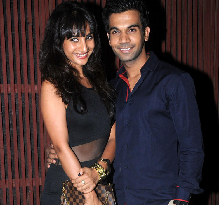 Rajkumar  With A Friend Pose For Camera At Kangna Ranauts Birthday Bash