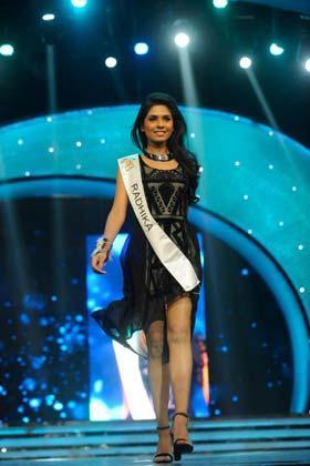 A Model Walks On Ramp At Femina Miss India Grand Finale 2013