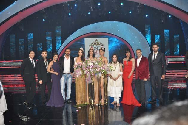 Shiamak,Karan,Asin,John,Sobhita,Navneet,Zoya,Chitrangada And Yuvraj Clicked At Femina Miss India Grand Finale 2013
