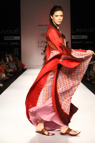 A Model On Ramp For Shruti Sancheti At Lakme Fashion Week
