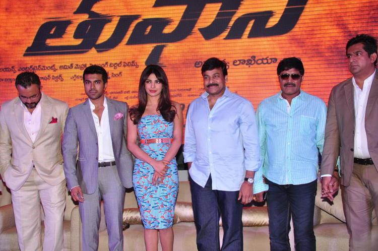 Apoorva,Ram Charan,Priyanka,Chiranjeevi And SriHari Graced At Toofan First Look Trailer Launch Event
