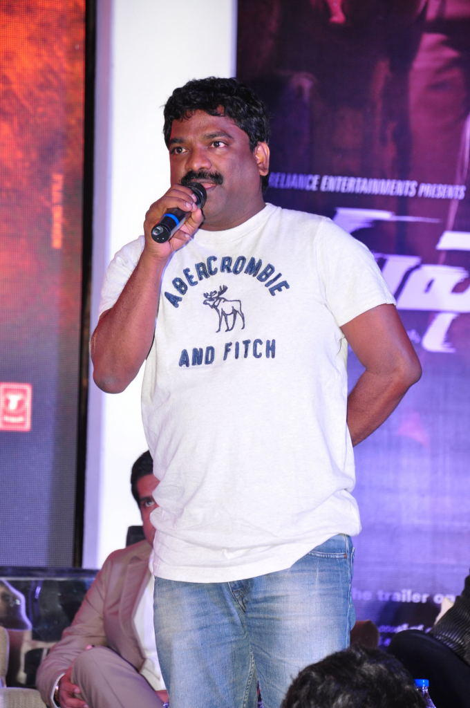 A Celeb On Stage At Toofan First Look Trailer Launch Event