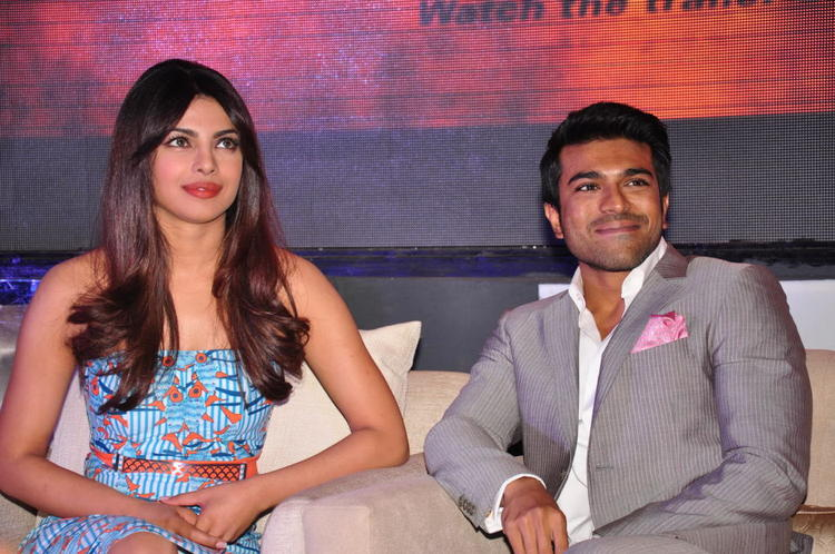 Priyanka And Ram Charan Smiling Look At Toofan First Look Trailer Launch Event