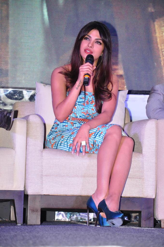 Priyanka Chopra Speaking Still At Toofan First Look Trailer Launch Event