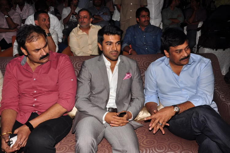 Ram Charan And Chiranjeevi Enjoy The Programme At Toofan First Look Trailer Launch Event