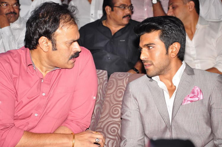 Ram Charan Teja Chatting Still At Toofan First Look Trailer Launch Event