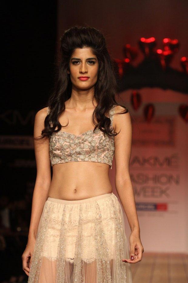 A Hot Model Walks On Ramp At Lakme Fashion Week Summer Resort 2013