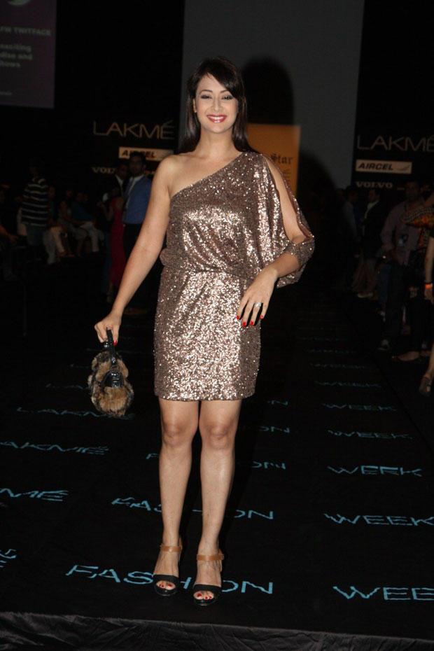 Preeti Jhangiani Dazzling Look At Lakme Fashion Week Summer Resort 2013