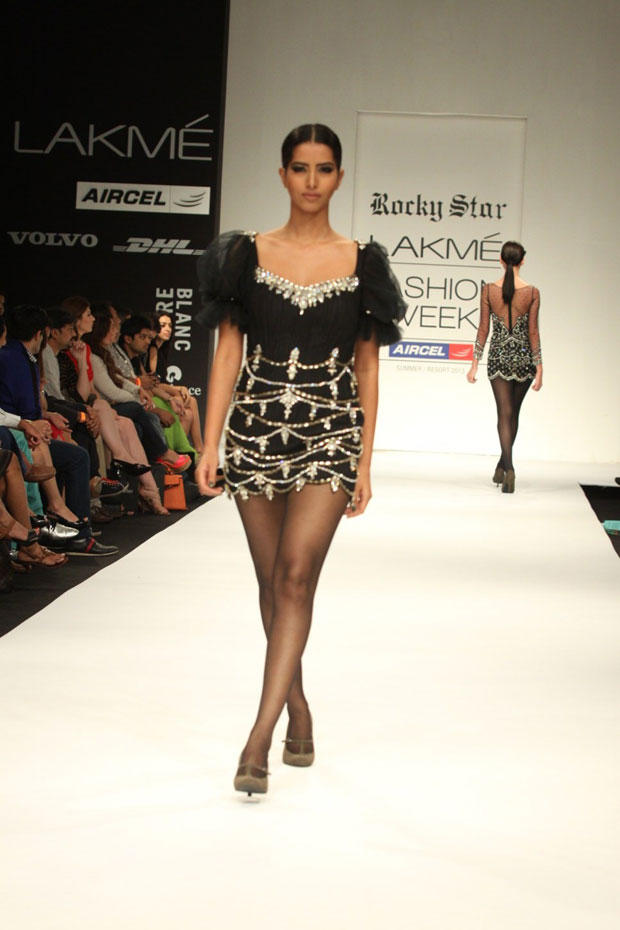 A Sexy Model Walks On Ramp At Lakme Fashion Week Summer Resort 2013