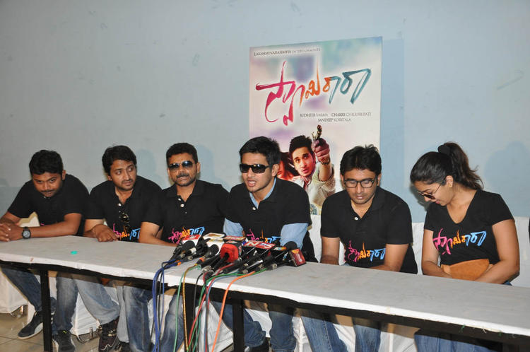 Nikhil,Sudhir And Swati Address The Media At Swamy Ra Ra Movie Success Meet Event