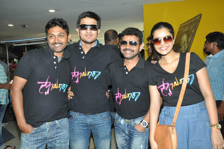 Nikhil,Swati And Others Posed At Swamy Ra Ra Movie Success Meet Event