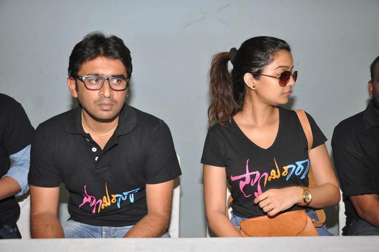Sudhir And Swati At The Swamy Ra Ra Movie Success Meet Event