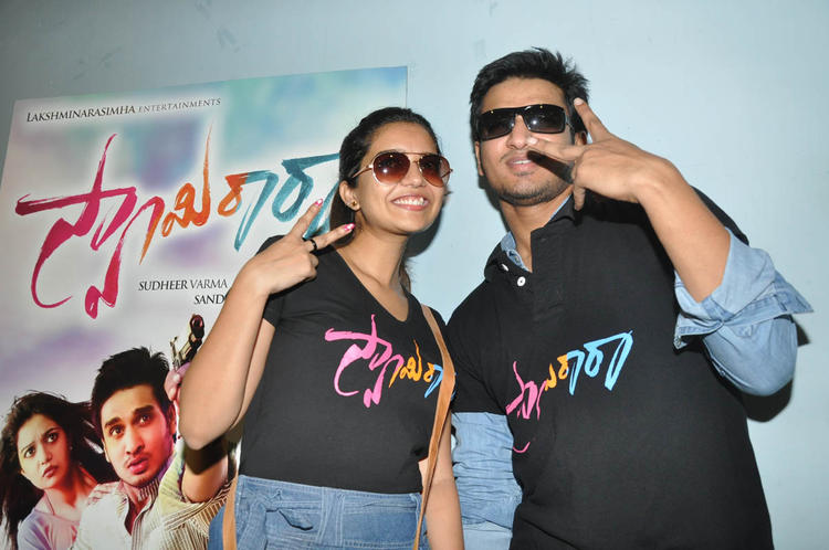 Swati And Nikhil Cool At Swamy Ra Ra Movie Success Meet Event