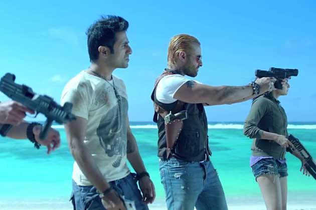 Saif Ali Khan And Vir Das A Still From Go Goa Gone Movie
