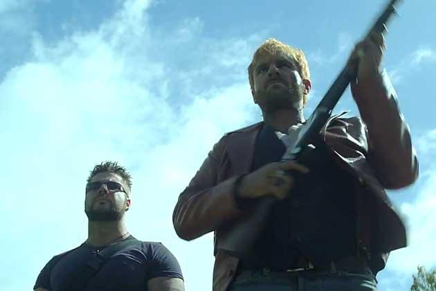 Saif Ali Khan With A Gun Still From Go Goa Gone Movie