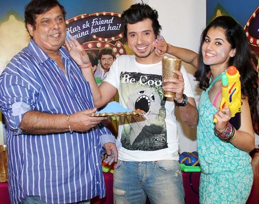 David,Divyendu And Taapsee Apply Colors To Celebrate The Spirit Of Holi