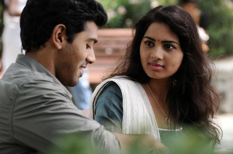Ashwin And Srushti Cute Look Photo Still From Tamil Movie Megha